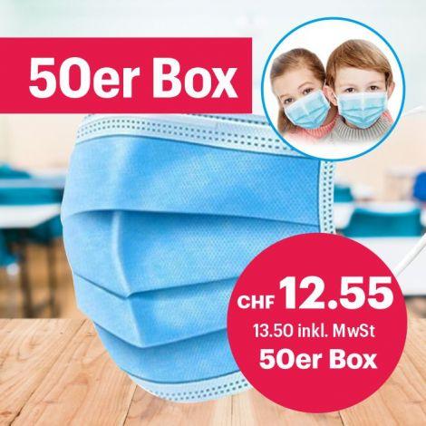Kinder Hygienemasken 50 Stk.